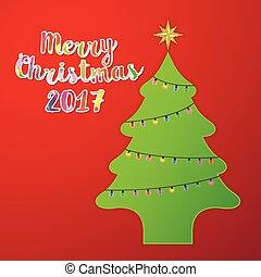 Christmas tree with light