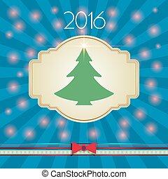 Christmas Tree with Lights Postcard