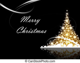 Merry Christmas - Christmas tree with Merry Christmas...