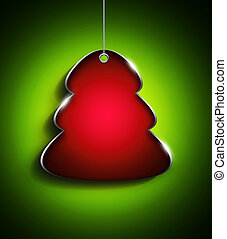 christmas tree with place for text over green  background
