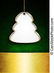 christmas tree with place for text over dark  background