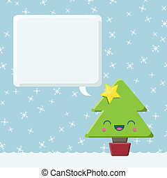 Christmas Tree with Speech Bubble