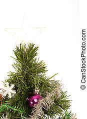 Christmas tree with star on top