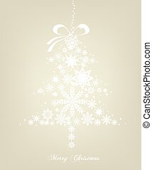 Christmas Tree with stars. Vector background