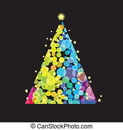 Christmas tree with stars