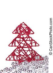 christmas tree with tinsel