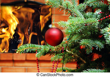 Christmas tree with toy