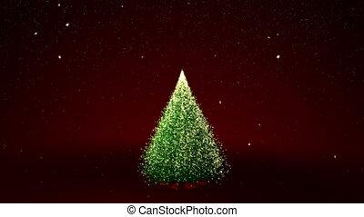 Christmas tree with yellow lights