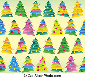 Christmas tree, wrapping