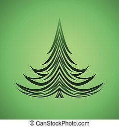 christmas tree xmas green background design element