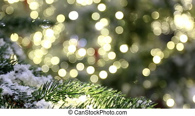 Christmas tree,bokeh background