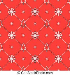 Christmas trees and snowflakes