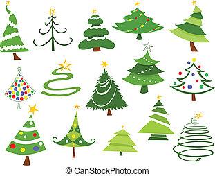 Christmas trees - Christmas tree set