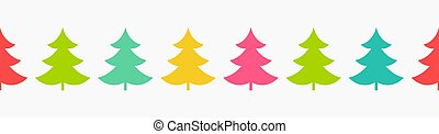 Christmas trees colorful pattern.