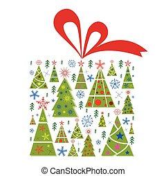 Christmas trees gift