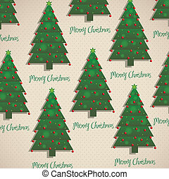 Christmas trees - Illustration of pattern of Christmas...