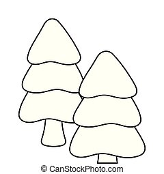 christmas trees on white background