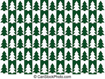 Christmas trees pattern, background