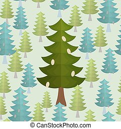 Christmas trees seamless pattern.