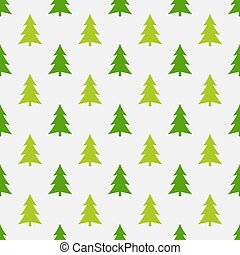 Christmas trees spruces green seamless forest pattern