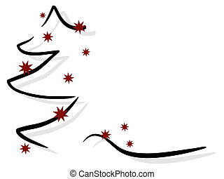 christmas trees - vector illustration of an abstract ...
