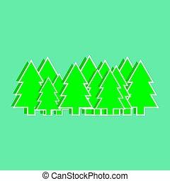 Christmas trees vector illustration, graphics, design