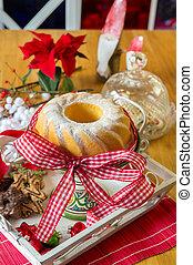 Christmas turban at the table