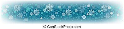 Christmas turquoise design with a set of white graceful snowflakes.