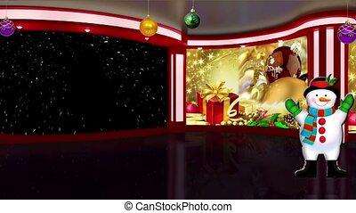Christmas TV Studio Set- 02