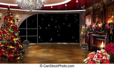 Christmas TV Studio Set -03