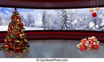 Christmas TV Studio Set- 04