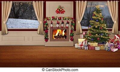 Christmas TV Studio Set -05