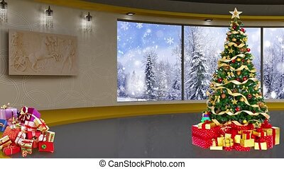 Christmas TV Studio Set -07