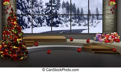 Christmas TV Studio Set -09