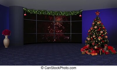 Christmas TV Studio Set -10