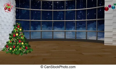 Christmas TV Studio Set 22 - Virtual Green Screen Background...
