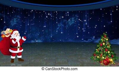 Christmas TV Studio Set 27 - Virtual Green Screen Background...