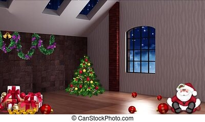 Christmas TV Studio Set 30 - Virtual Green Screen Background Loop