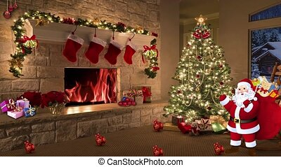 Christmas TV Studio Set 31 - Virtual Green Screen Background...