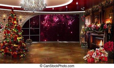Christmas TV Studio Set -