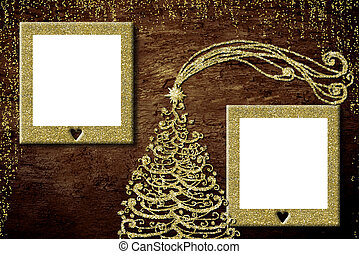Christmas two photo frames card.