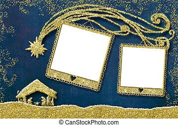 Christmas two photo frames card.