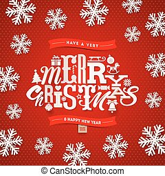 Christmas type design - vector illustration