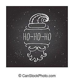 Christmas - typographic element