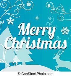 Christmas Typographical on background