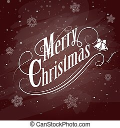 Christmas Typographical on red Background