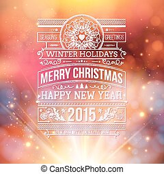 Christmas typography for your winter holidays design.
