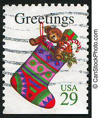 christmas - UNITED STATES - CIRCA 1994: stamp printed by...