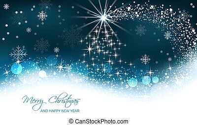 Christmas vector background, christmas tree and snow wave.