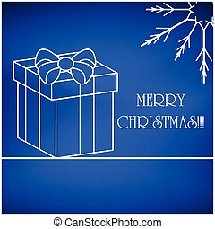 Christmas vector card, background